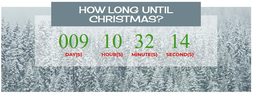 a christmas countdown timer for the kids